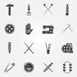Icônes fabriquées à la main de vecteur réglées illustration stock