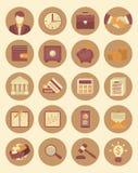 Icônes financières et d'affaires Photographie stock