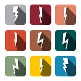 Icônes foudre, illustration de vecteur Images stock