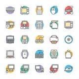 Icônes fraîches électroniques 1 de vecteur illustration stock