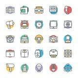 Icônes fraîches électroniques 5 de vecteur illustration de vecteur