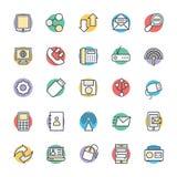 Icônes fraîches 3 de vecteur de communication illustration de vecteur