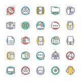 Icônes fraîches 4 de vecteur de communication illustration de vecteur