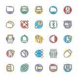 Icônes fraîches 5 de vecteur de communication illustration de vecteur