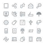 Icônes fraîches 3 de vecteur de communication illustration libre de droits