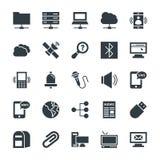 Icônes fraîches 5 de vecteur de communication illustration stock