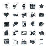 Icônes fraîches 2 de vecteur de communication Photo stock