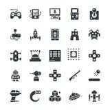 Icônes fraîches 1 de vecteur de jeu Images stock