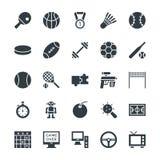 Icônes fraîches 4 de vecteur de jeu Images stock