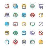 Icônes fraîches 2 de vecteur de la livraison logistique Image stock