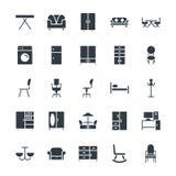 Icônes fraîches 2 de vecteur de meubles Photographie stock libre de droits