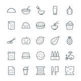 Icônes fraîches 12 de vecteur de nourriture Photos libres de droits