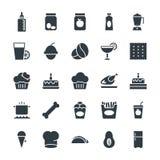 Icônes fraîches 9 de vecteur de nourriture Photo libre de droits