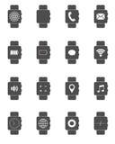 icônes futées de montre Photographie stock