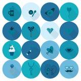 Icônes heureuses de jour de valentines Image stock