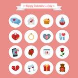 Icônes heureuses de Saint-Valentin réglées illustration de vecteur
