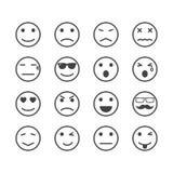 Icônes humaines d'émotion illustration libre de droits