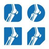 Icônes humaines d'articulation du genou illustration de vecteur
