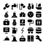 Icônes industrielles 11 de vecteur Image libre de droits