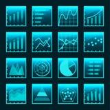 Icônes infographic d'affaires réglées Images stock