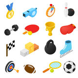 Icônes isométriques de sport Images stock