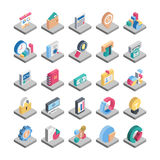 Icônes isométriques de vecteur de finances Photographie stock libre de droits
