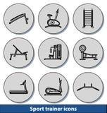 Icônes légères d'entraîneur de sport Photo stock