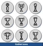 Icônes légères de gobelet Image stock
