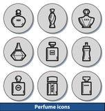 Icônes légères de parfum Photographie stock