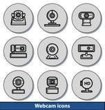 Icônes légères de webcam Image stock