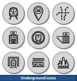 Icônes légères souterraines Photo libre de droits