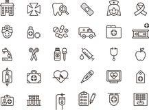 Icônes liées aux soins médicaux Photos stock