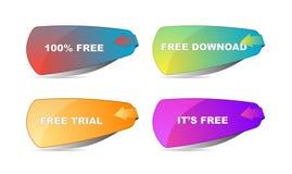 Icônes libres Photos libres de droits