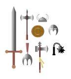 Icônes médiévales de bras de Viking Images stock