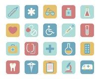 Icônes médicales Photographie stock libre de droits