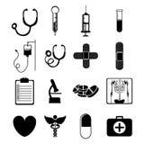 Icônes médicales Photographie stock
