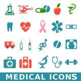 Icônes médicales Photo libre de droits