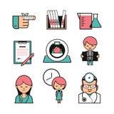 Icônes médicales de couleur Image libre de droits