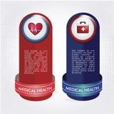 Icônes médicales de santé Images stock
