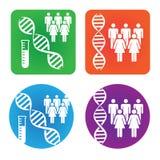Icônes médicales de soins de santé Image stock