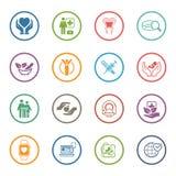 Icônes médicales et de soins de santé réglées Conception plate Photographie stock libre de droits