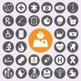 Icônes médicales plates réglées Vector/EPS10 Photographie stock