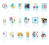 Icônes médicales réglées Images stock