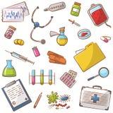 Icônes médicales réglées Image stock