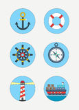 Icônes maritimes photos libres de droits