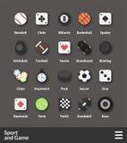Icônes matérielles plates de conception réglées Photographie stock