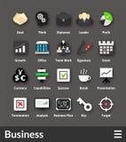 Icônes matérielles plates de conception réglées Image libre de droits