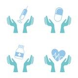 Icônes médicales Images libres de droits