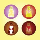 Icônes mignonnes d'ours illustration stock