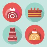 Icônes mignonnes de dessert Image libre de droits